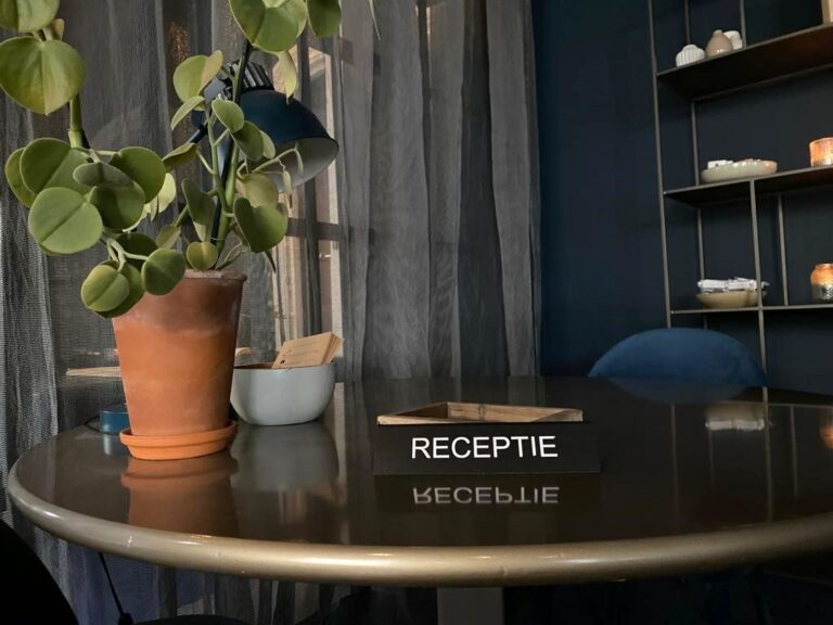 Receptie van hotel Simple
